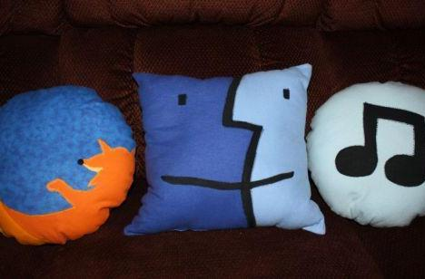 Handmade icon pillows given as gifts for Christmas
