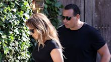 J.Lo Matches with A-Rod in a Sleek All-Black Ensemble While House Hunting