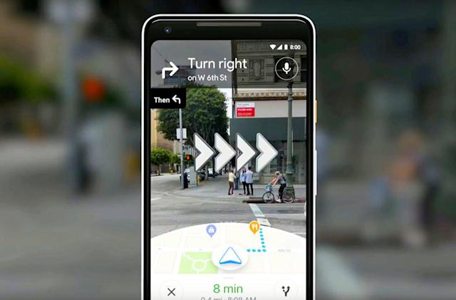Google Maps AR navigation is rolling out to a handful of users