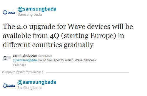 All Samsung Wave phones will get Bada 2.0, if they can handle the upgrade