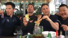 Robert Downey Jr. Shares 'Avengers' Set Photo With Doctor Strange, Bruce Banner, and Wong