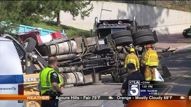 1 LAPD Officer Killed, 1 Officer Injured in Collision With Big Rig