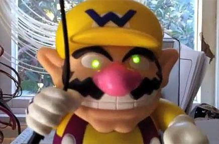 Creepy profit-tracking Wario controlled by Mac