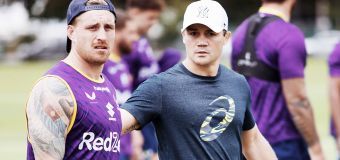 Furore after Cooper Cronk spotted at Storm training