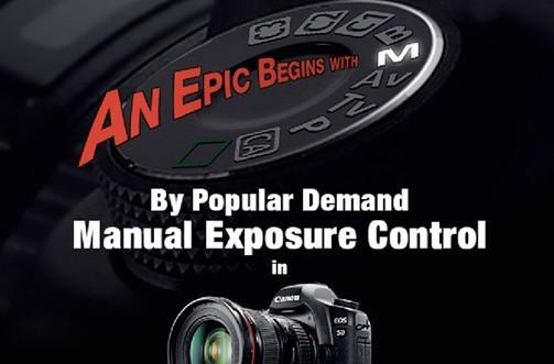 Canon EOS 5D Mark II update with manual video exposure controls now available