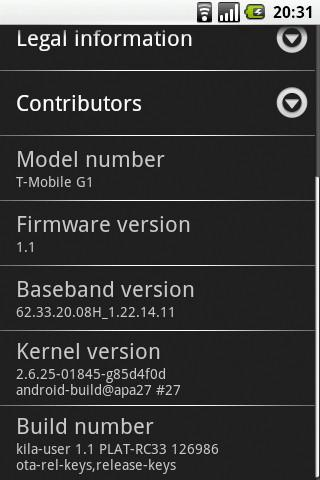"""T-Mobile G1 firmware RC33 (also known as """"not Cupcake"""") trickles into reality"""