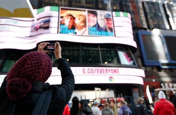 Google's 'gallery for everyone' lets you take over Times Square, say thank you for...