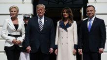 Melania Trump wore $4,000 Gucci coat to greet Poland's first couple — despite the 80-degree heat