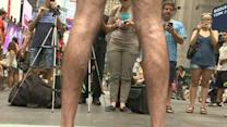 Only in Times Square: Stumping in the Nude