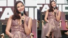 Ashley Judd, 49, Gives the See-Through Trend a Try in Romantic Lilac Dress
