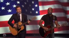 Darius Rucker and Jimmy Fallon celebrate NYC Fleet Week by serenading the troops