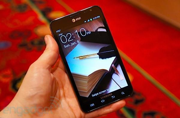 AT&T Galaxy Note with LTE hands-on at CES 2012 (video)