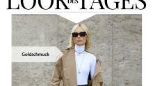 Look des Tages: Viktoria Rader im Herbst-Style mit farblichem Highlight