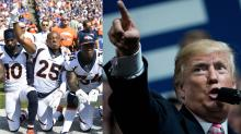 President Trump Tweets NFL Players 'Standing With Locked Arms Is Good.' They Were Protesting Him
