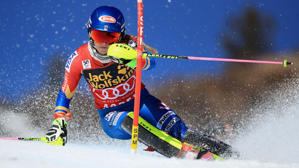 Mikaela Shiffrin confirms overall title as Petra Vlhova wins slalom finale