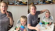 Amy Schumer Loses It When Her Son Says 'Dad' For The Very First Time