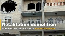 Israel destroys family apartments of Palestinian accused of murderer