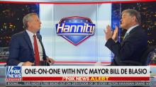 Bill de Blasio tells Sean Hannity to 'respect' the NYPD