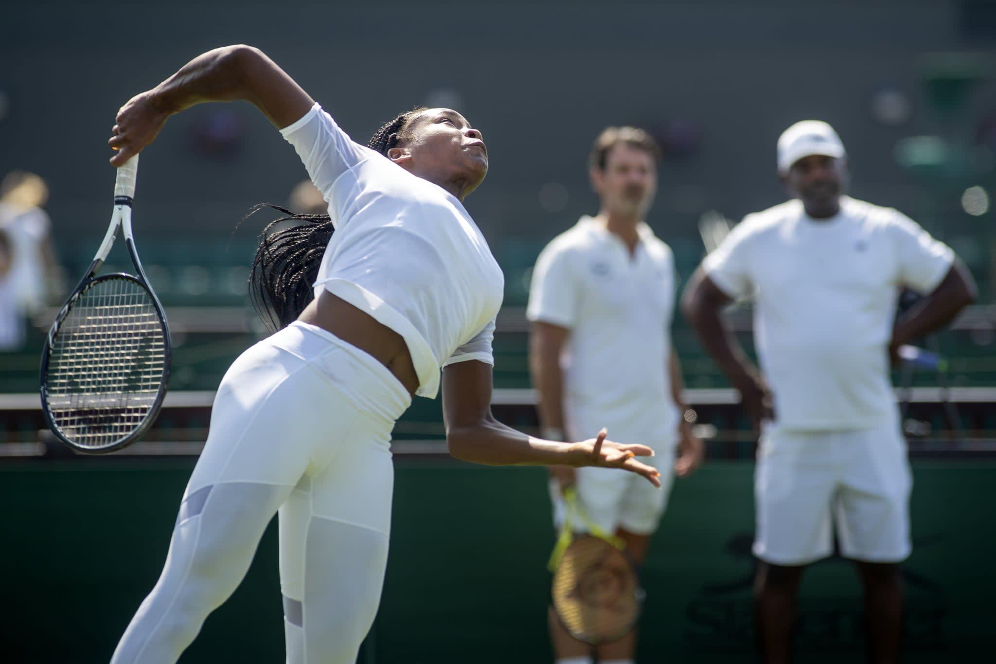 "<p>Coco Gauff has been dubbed <a href=""https://www.popsugar.com/fitness/Cori-Gauff-Beats-Venus-Williams-Wimbledon-2019-46336596"" class=""link rapid-noclick-resp"" rel=""nofollow noopener"" target=""_blank"" data-ylk=""slk:the future of women's tennis"">the future of women's tennis</a>, and we love watching her matches. Mouratoglou helps supervise Gauff's development alongside her main coach and father, Corey Gauff.</p>"