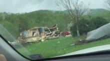 Possible Tornado Leaves Trail of Destruction in Virginia's Franklin County