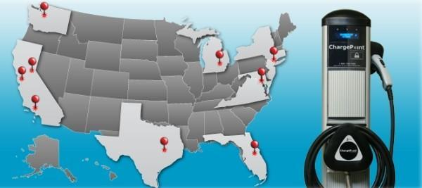 Coulomb partners with Ford, Chevy, Smart to deliver 4,600 free EV charging stations in US