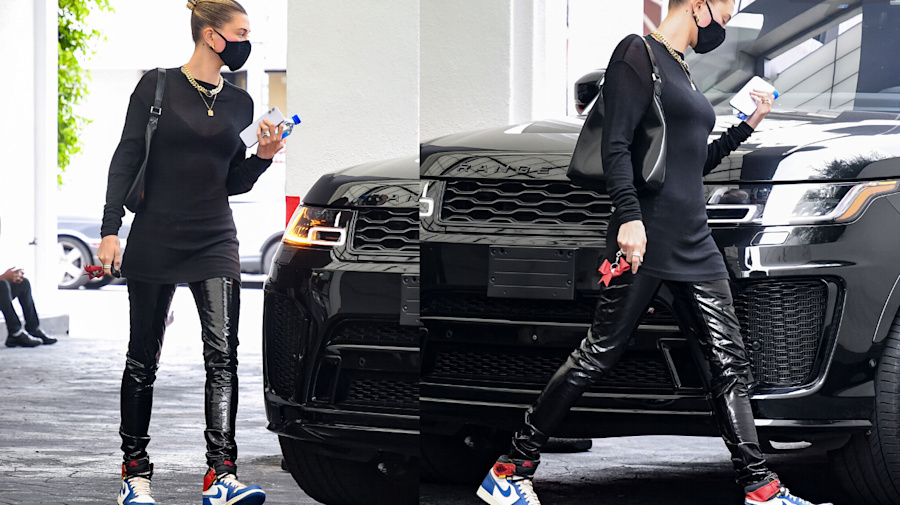 Hailey Bieber steps out in $1,700 shoes