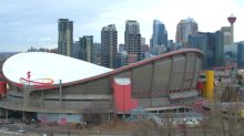 What happens when the Calgary Flames leave the Saddledome
