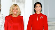 Brigitte Macron and Mary, Crown Princess of Denmark Do Twinning Style in Copenhagen