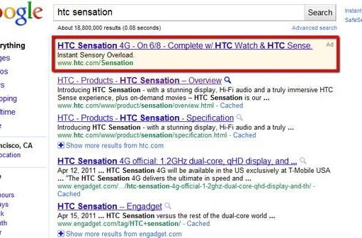 HTC Sensation 4G launching on June 8th, because Google AdWords says so