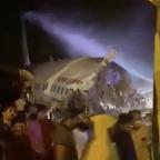 Air India Express plane crash-lands with nearly 200 onboard after Dubai-Calicut flight