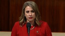 Rep. Katie Hill, freshman targeted by revenge porn, resigns with a blast at Trump