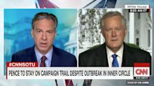 CNN's Jake Tapper presses White House chief of staff after top Pence aides test positive for coronavirus