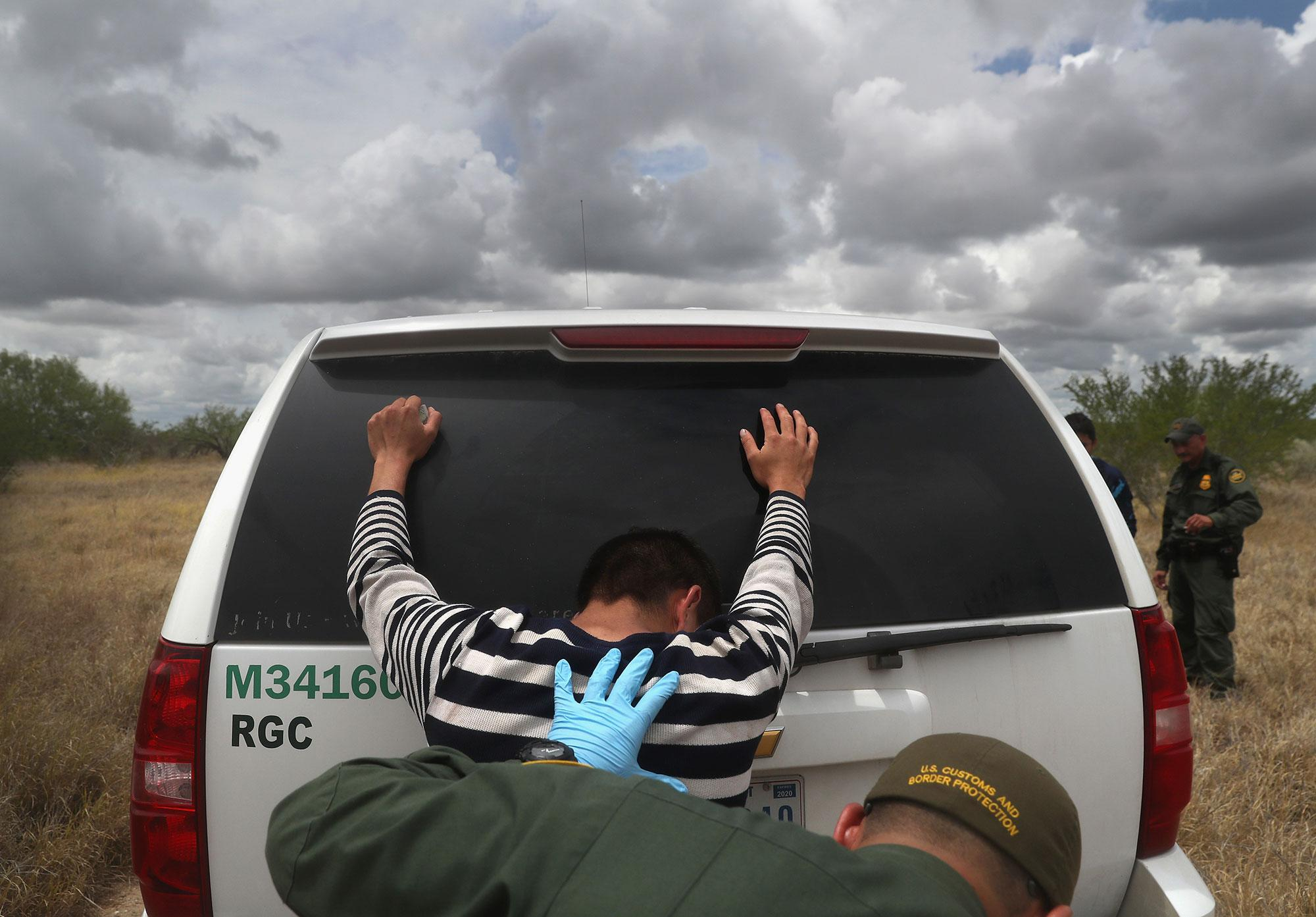 U S  border agents pursue human and drug smugglers near