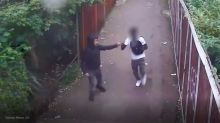 Teens filmed 'fist bumping' after stabbing man to death