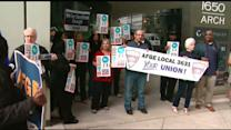 EPA workers hold protest following government shutdown