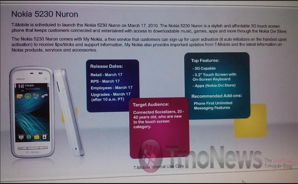 Nokia Nuron spotted again, connection to 5230 cemented?