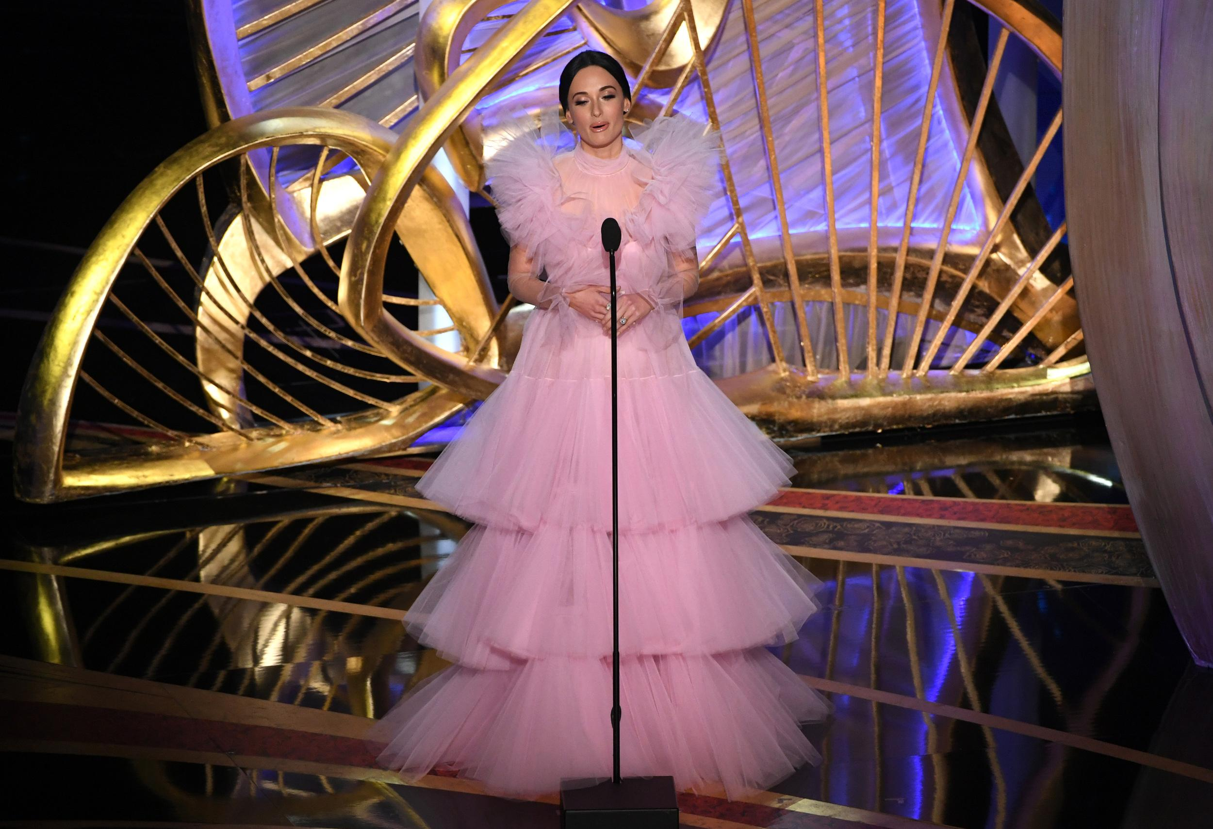 HOLLYWOOD, CALIFORNIA - FEBRUARY 24: Kacey Musgraves speaks onstage during the 91st Annual Academy Awards at Dolby Theatre on February 24, 2019 in Hollywood, California. (Photo by Kevin Winter/Getty Images)