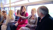Will and Kate surprise commuters on London Poppy Day