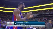 Andre Drummond gave the refs a round of applause after they ejected him