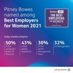 Pitney Bowes Named One of Forbes' Best Employers for Women 2021