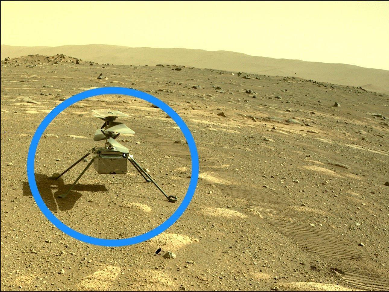 NASA's Martian helicopter recently created its first color photograph of the red planet.  It is expected to fly on Monday.