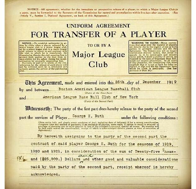 Babe ruth contract-6738