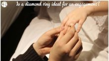 Is a diamond ring suitable for engagement according to astrology?