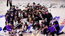 Lakers tie Celtics for most NBA titles: Explore the Larry O'Brien Trophy winners throughout the years in augmented reality