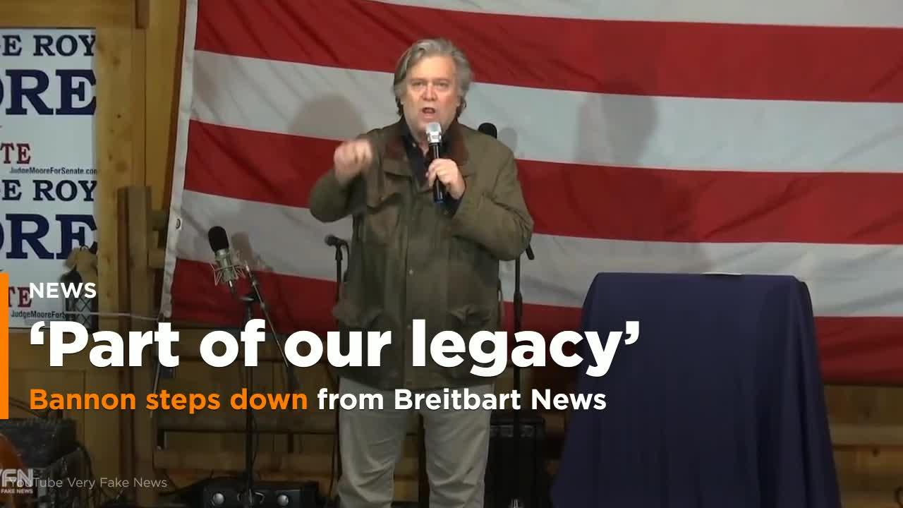 Bannon steps down from Breitbart News after comments critical of