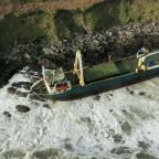'Ghost Ship' Washes Up on Irish Coast During Storm Dennis