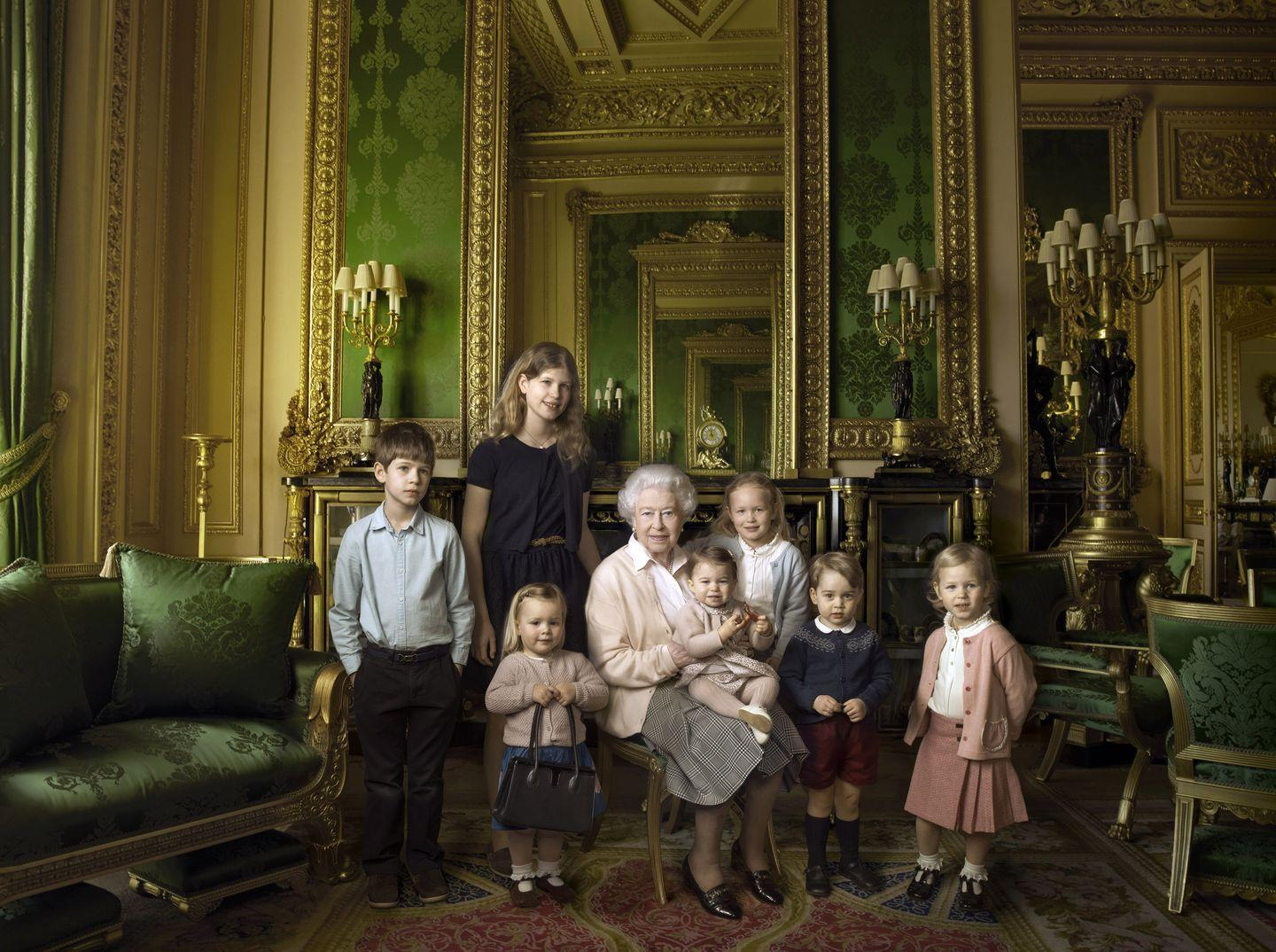 """<p>Princess Charlotte's striking resemblance to her great-grandmother first became apparent in an official portrait of the Queen with her five great-grandchildren and two youngest grandchildren, <a href=""""https://www.townandcountrymag.com/society/a5897/queen-elizabeth-annie-leibovitz-90th-birthday-portraits/"""" target=""""_blank"""">taken in honor of Her Majesty's 90th birthday</a>.</p>"""