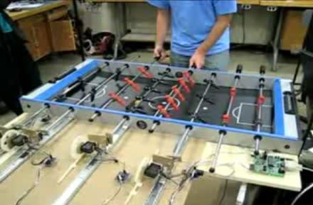 DIY robotic foosball table is ready to throw down