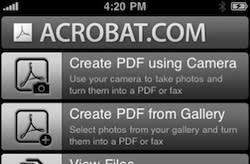 Acrobat.com Mobile now available on the iPhone; free, but expensive
