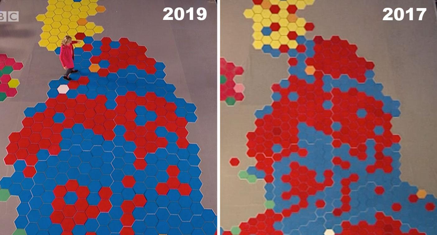 The maps that show how Labour's 'red wall' fell to the Tories